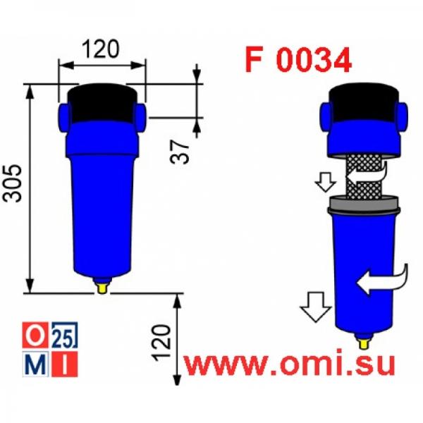 Фильтр OMI PF 0034, чертеж